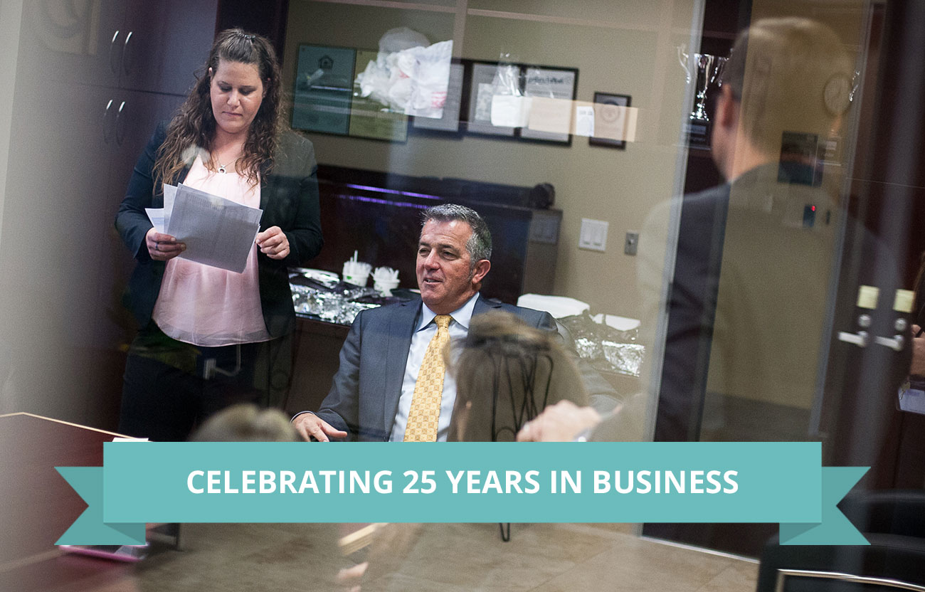 Celebrating 25 Years In Business Page